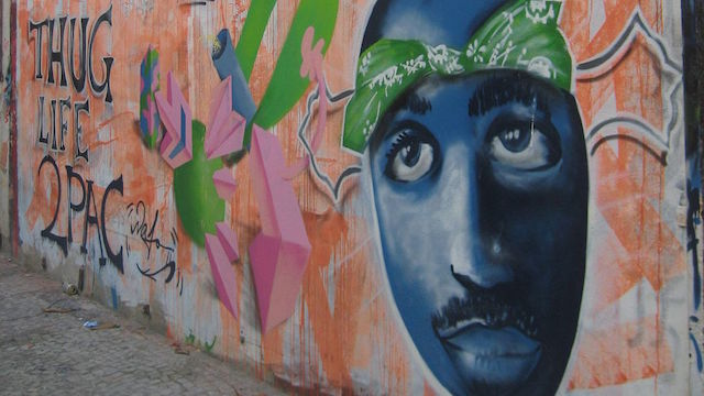 [Tupac Shakur graffiti courtesy Wikimedia Commons]