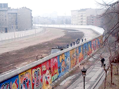 [Berlin Wall courtesy Wikimedia]