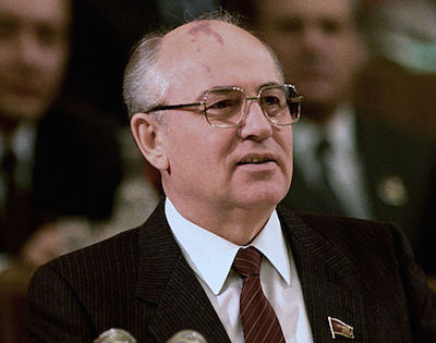 [Mikhail Gorbachev courtesy Wikimedia Commons]