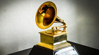 [Grammy Award courtesy Dmileson and Wikimedia Commons]