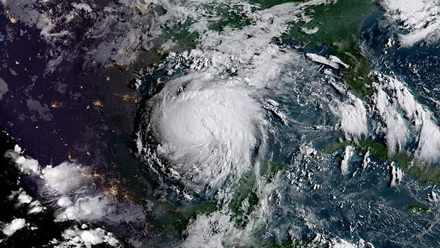 [Hurricane Harvey courtesy Wikimedia Commons]
