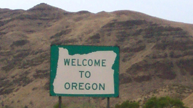[Oregon sign courtesy Wikimedia Commons]