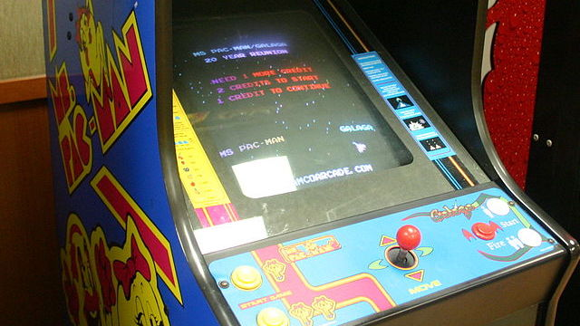 [video game cabinet courtesy Wikimedia Commons]