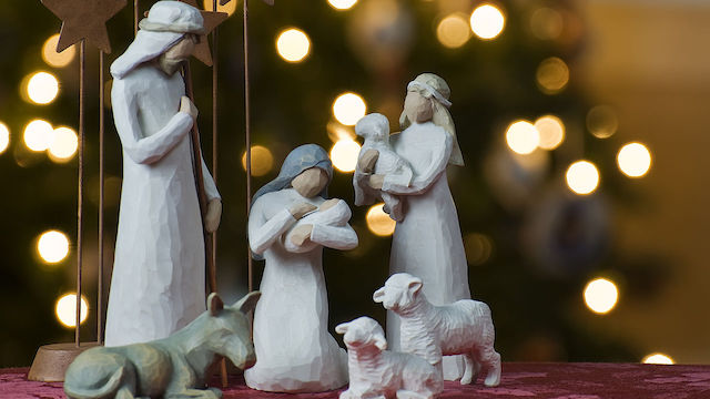 [Christmas nativity scene courtesy Wikimedia]
