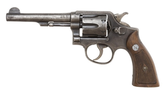 [Smith & Wesson M&P Victory model revolver courtesy Wikimedia Commons]